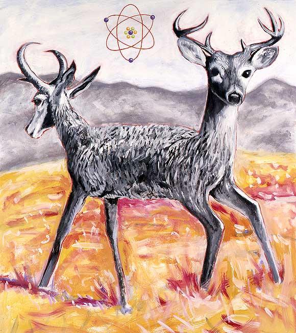 deer_antelope_acrylic_oil