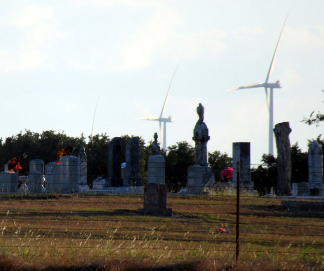cemetery and windmills